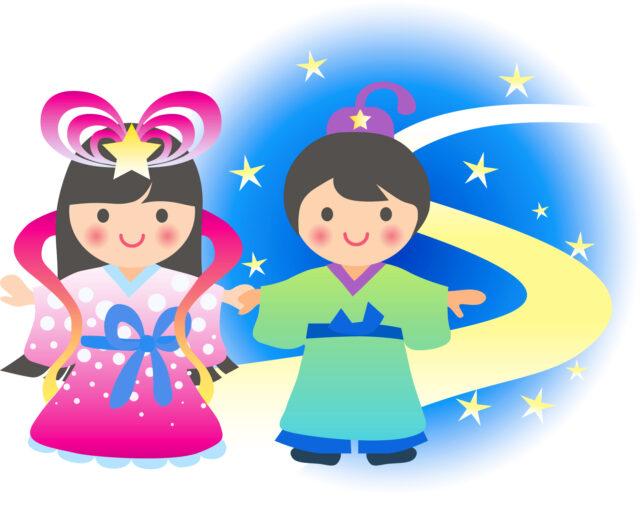 織り姫とひこ星のイラスト